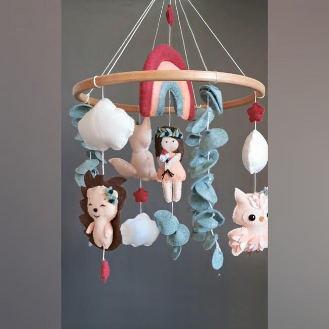 "Crib mobile ""Forest Princes """