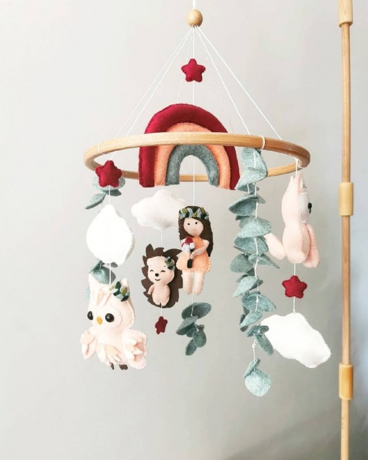 "Crib mobile ""Forest Princes """