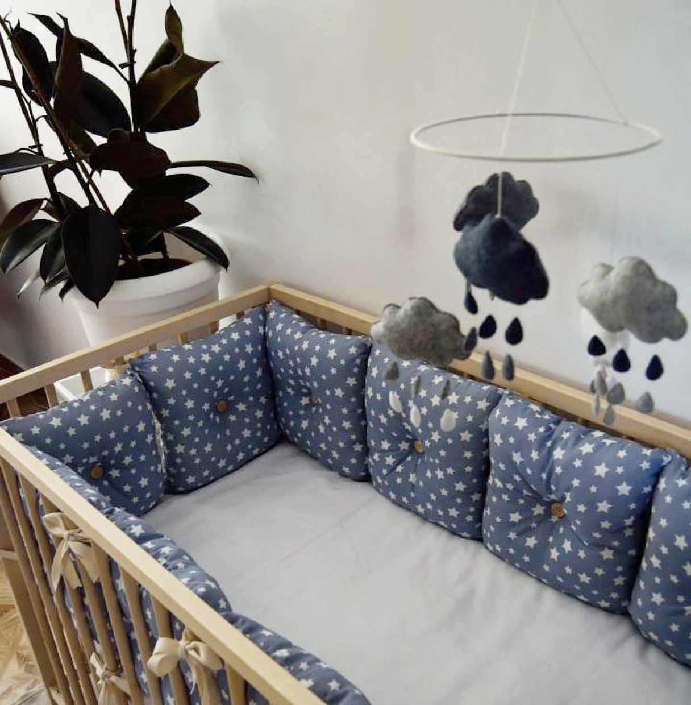 "Crib bumper ""Starry sky """