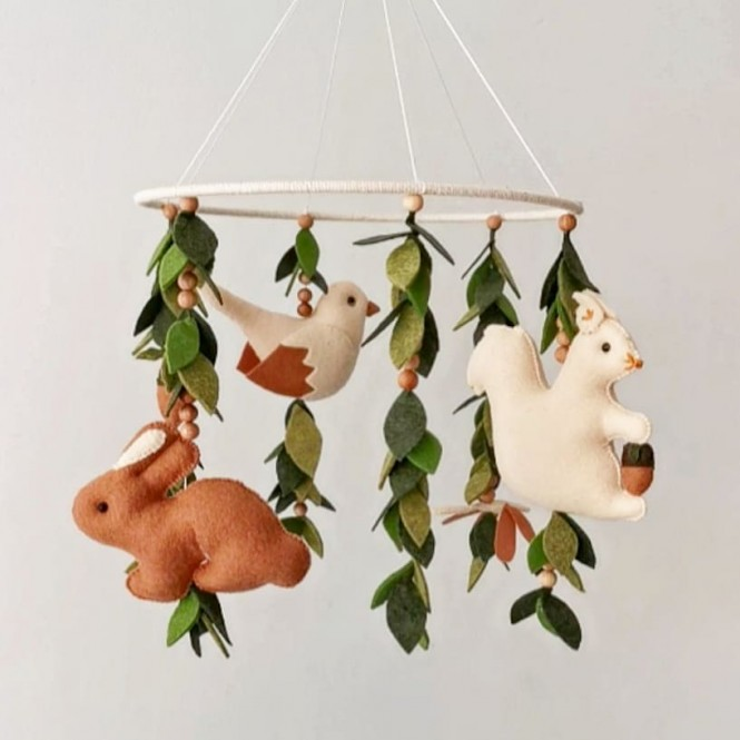 "Crib Mobile ""Forest """
