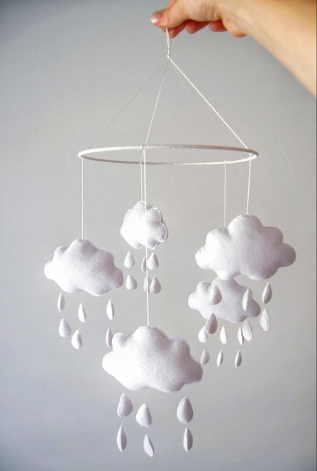 "Crib Mobile ""Clouds"""