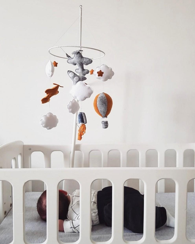 "Crib Mobile "" Little Skydiver """
