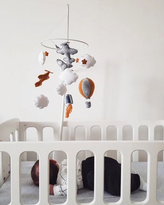 "Crib Mobile "" Little Skydiver """