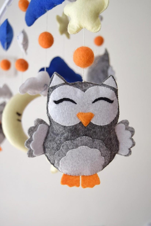 "Crib Mobile ""Night Owls """