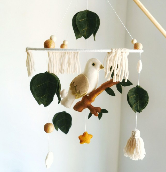 "Crib Mobile "" Forest Bird """