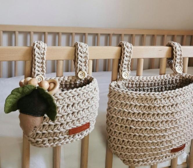Set of Hanging Crib Baskets