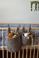 Hanging Crib Baskets (S)