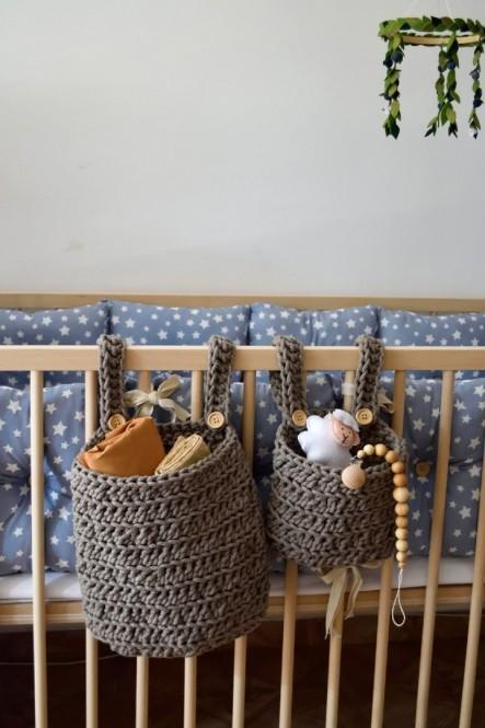 Hanging Crib Baskets (M)
